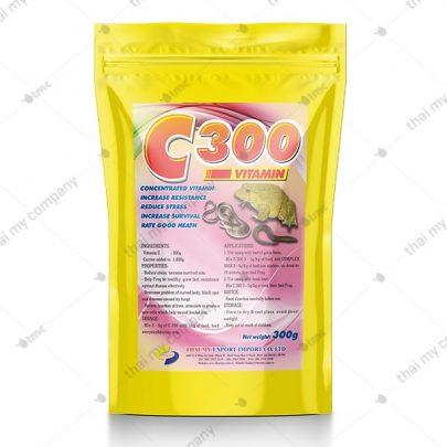 C300 là loại vitamin đậm đặc, tăng sức đề kháng giảm stress, giảm tỉ lệ hao hụt của nòng nọc sức khỏe ếch tốt, mạnh khỏe.