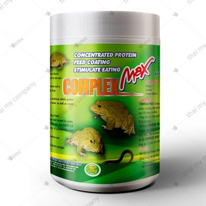 COMPLEX MAX Protein đậm đặc bao bọc viên thức ăn không làm mất nước và vitamin kích thích ếch thèm ăn