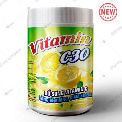 Vitamin c30, Bổ sung vitamin c tăng đề kháng, giảm stress, thủy sản thái mỹ